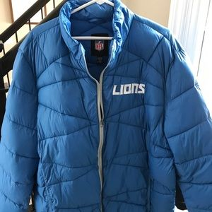 Brand New Men's Detroit Lions Puffer Jacket
